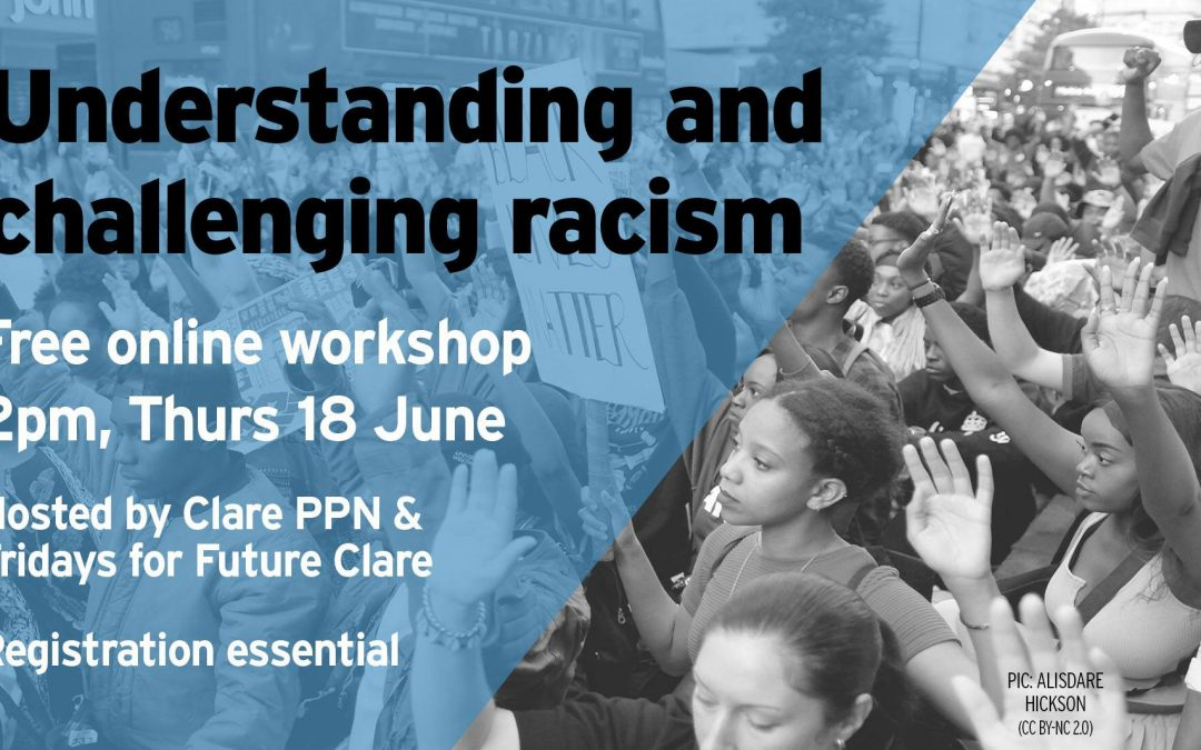 Workshop: Understanding and Challenging Racism Thursday 2 pm.