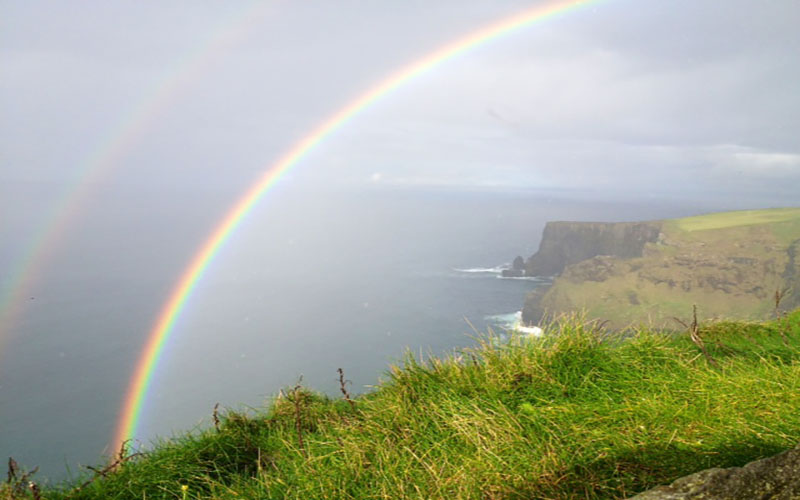 Rainbow at Cliffs of Moher, by Ted Sullivan