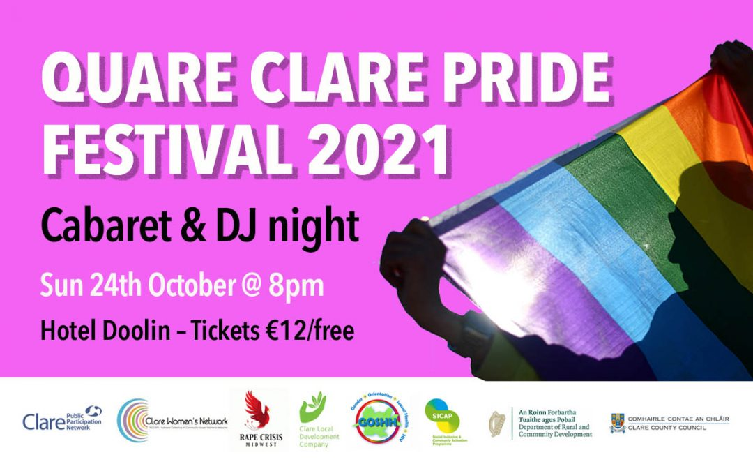 !Postponed! First ever county-wide Clare Pride Festival set for Bank Holiday weekend
